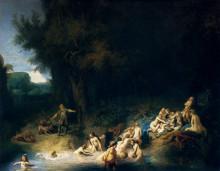 """Картина """"diana bathing, with the stories of actaeon and callisto"""" художника """"рембрандт"""""""