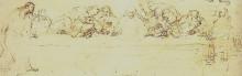 "Репродукция картины ""drawing of the last supper"" художника ""рембрандт"""