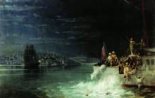 """Копия картины """"ночь. трагедия в мраморном море"""" художника """"айвазовский иван"""""""