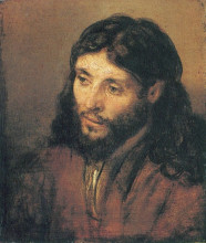 "Копия картины ""head of christ"" художника ""рембрандт"""
