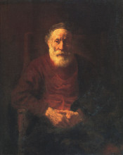 "Копия картины ""Portrait of an Old Man in Red"" художника ""Рембрандт"""