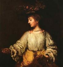 """Копия картины """"portrait of hendrickje stofells as flora"""" художника """"рембрандт"""""""