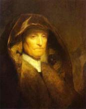 """Картина """"portrait of the artist's mother"""" художника """"рембрандт"""""""