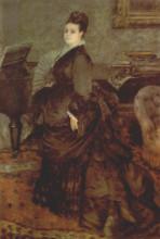 "Копия картины ""Portrait of a woman (Mme. Georges Hartmann)"" художника ""Ренуар Пьер Огюст"""