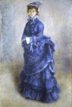 """Репродукция картины """"The Blue Lady"""" художника """"Ренуар Пьер Огюст"""""""