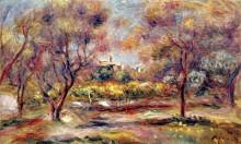 "Картина ""Landscape at Grasse"" художника ""Ренуар Пьер Огюст"""
