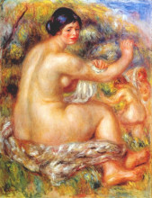 "Картина ""after the bath"" художника ""ренуар пьер огюст"""