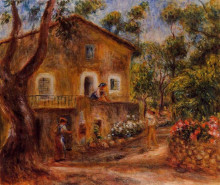 """Копия картины """"House in Collett at Cagnes"""" художника """"Ренуар Пьер Огюст"""""""