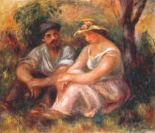 """Картина """"Seated couple"""" художника """"Ренуар Пьер Огюст"""""""