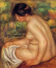 "Картина ""seated nude in profile (gabrielle)"" художника ""ренуар пьер огюст"""