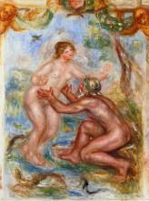 """Копия картины """"Study for The Saone Embraced by the Rhone"""" художника """"Ренуар Пьер Огюст"""""""
