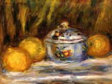 """Репродукция картины """"sugar bowl and lemons"""" художника """"ренуар пьер огюст"""""""