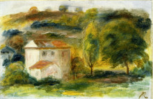 "Картина ""Landscape with White House"" художника ""Ренуар Пьер Огюст"""