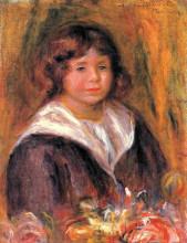 """Репродукция картины """"Portrait of a Boy (Jean Pascalis)"""" художника """"Ренуар Пьер Огюст"""""""