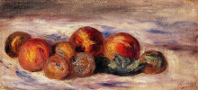 "Репродукция картины ""still life with peaches"" художника ""ренуар пьер огюст"""