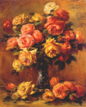 """Картина """"Roses in a Vase"""" художника """"Ренуар Пьер Огюст"""""""