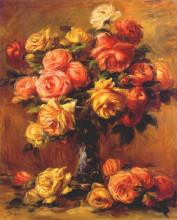 "Копия картины ""Roses in a Vase"" художника ""Ренуар Пьер Огюст"""