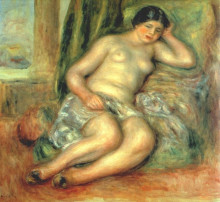 "Репродукция картины ""Sleeping Odalisque (Odalisque with Babouches)"" художника ""Ренуар Пьер Огюст"""