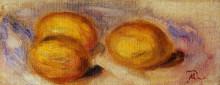 """Репродукция картины """"Three Lemons"""" художника """"Ренуар Пьер Огюст"""""""