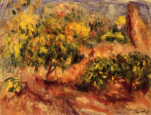 "Картина ""Cagnes Landscape"" художника ""Ренуар Пьер Огюст"""