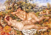 "Репродукция картины ""The Great Bathers (The Nymphs)"" художника ""Ренуар Пьер Огюст"""
