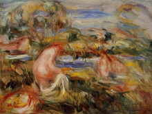 "Картина ""two bathers in a landscape"" художника ""ренуар пьер огюст"""