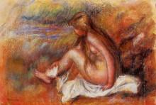 """Картина """"bather seated by the sea"""" художника """"ренуар пьер огюст"""""""