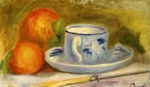"Картина ""cup and oranges"" художника ""ренуар пьер огюст"""