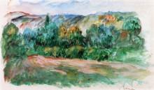 "Картина ""essoyes landscape"" художника ""ренуар пьер огюст"""
