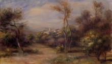"Картина ""Landscape near Cagnes"" художника ""Ренуар Пьер Огюст"""