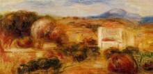 "Репродукция картины ""Landscape with White House"" художника ""Ренуар Пьер Огюст"""