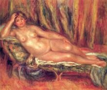 "Репродукция картины ""nude on a couch"" художника ""ренуар пьер огюст"""