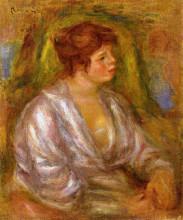 "Картина ""portrait of a woman"" художника ""ренуар пьер огюст"""