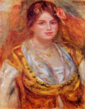 """Репродукция картины """"Portrait of Mademoiselle Francois"""" художника """"Ренуар Пьер Огюст"""""""