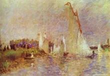 """Копия картины """"sailboats at argenteuil"""" художника """"ренуар пьер огюст"""""""