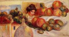 "Копия картины ""Still Life with Fruit"" художника ""Ренуар Пьер Огюст"""