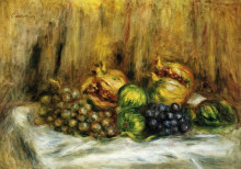 "Картина ""still life with grapes"" художника ""ренуар пьер огюст"""