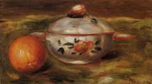 "Картина ""still life with orange and sugar bowl"" художника ""ренуар пьер огюст"""