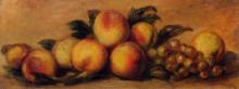 "Репродукция картины ""Still Life with Peaches and Grapes"" художника ""Ренуар Пьер Огюст"""