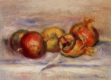 """Копия картины """"Three Pomegranates and Two Apples"""" художника """"Ренуар Пьер Огюст"""""""