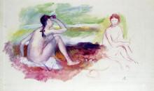 """Картина """"two bathers"""" художника """"ренуар пьер огюст"""""""