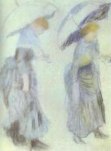 "Копия картины ""Two Women with Umbrellas"" художника ""Ренуар Пьер Огюст"""