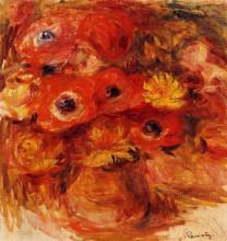 "Копия картины ""vase of anemones"" художника ""ренуар пьер огюст"""