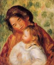 "Картина ""Woman and Child"" художника ""Ренуар Пьер Огюст"""