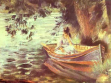 """Картина """"woman in a boat"""" художника """"ренуар пьер огюст"""""""