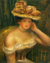"""Картина """"woman wearing a corset"""" художника """"ренуар пьер огюст"""""""