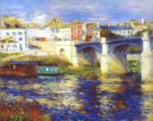 "Картина ""the bridge at chatou"" художника ""ренуар пьер огюст"""
