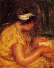 "Копия картины ""Young Woman Reading"" художника ""Ренуар Пьер Огюст"""