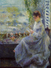 "Картина ""madame chocquet reading"" художника ""ренуар пьер огюст"""