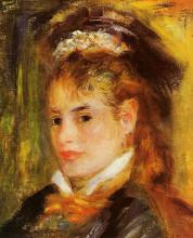"""Копия картины """"portrait of a young woman"""" художника """"ренуар пьер огюст"""""""